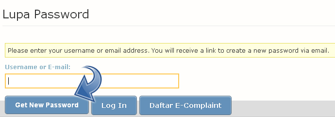 E-Complaint - lupa password